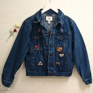 Forever 21 Jean Jacket With Patches Size Small